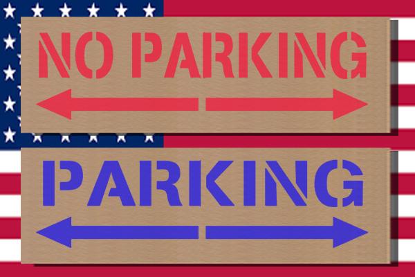 ステンシルアート 駐車禁止