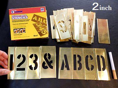 真鍮ステンシルプレート ステンシルシート ステンシルプレート1インチ アメリカ雑貨屋