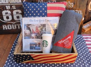 星条旗ウッドボックス なびくアメリカ国旗 アメリカ雑貨屋 サンブリッジ