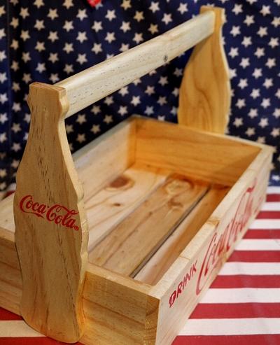 コカコーラ木箱 取っ手ビンコーラ木箱 ウッドクレーと COLAウッドボックス アメリカ雑貨屋 サンブリッヂ 通販 通販商品