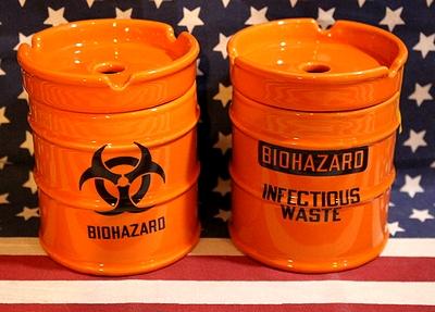 ドラム缶型灰皿 バイオハザード アメリカ雑貨屋 サンブリッヂ
