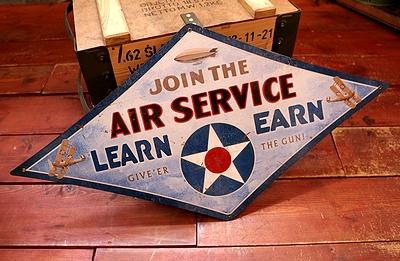 エアサービス看板 アメリカ空軍看板 AIRSERVICE看板 世田谷ベース看板 メリカ雑貨屋 SUNBRIDGE アメリカ雑貨通販