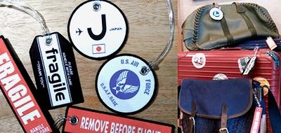 エアフォース刺繍タグ スーツケースタグ 両面刺繍タグ リバーシブルタグ アメリカ雑貨屋 サンブリッヂ ミリタリー雑貨通販