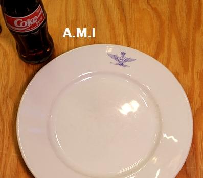 ミリタリー食器 ディsッシュ皿 イタリア軍皿 デッドストック食器 アメリカン雑貨通販