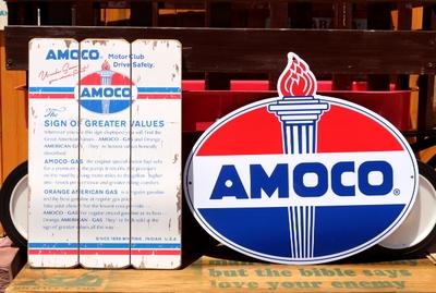 アモコカッティングサイン プラスチック看板 US企業 AMOCO アメリカ雑貨屋 サンブリッヂ