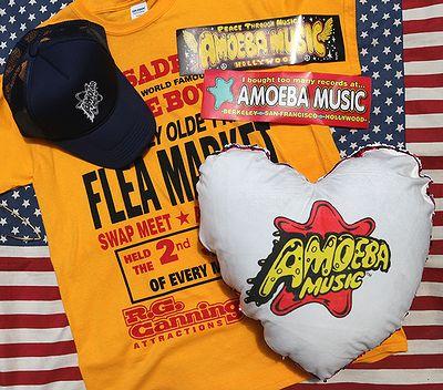 アメーバミュージックキャップ アメーバミュージックハート型クッション アメリカクッション背あて アメリカ雑貨通販 サンブリッヂ