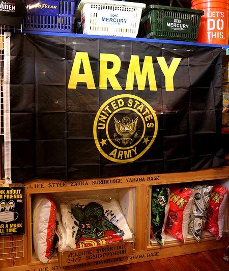 アーミー ARMY 旗 フラッグ 所ジョージ 世田谷ベース 陸軍 米軍 タペストリー アメリカ雑貨 通販 アメリカ雑貨屋
