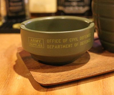 ミリタリーマグ ミリタリー灰皿 手榴弾マグ ステンシル コーヒー&シガレット アメリカ雑貨屋 サンブリッヂ