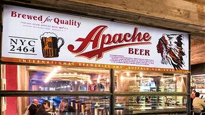 APACHEBEERバナー プロモーションバナー ガレージフラッグ アメリカ雑貨屋 サンブリッヂ