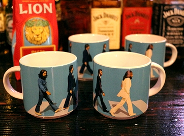 ビートルズマグカップ アビイロードマグカップ ビートルズミュージアムグッズ アメリカ雑貨通販 サンブリッヂ