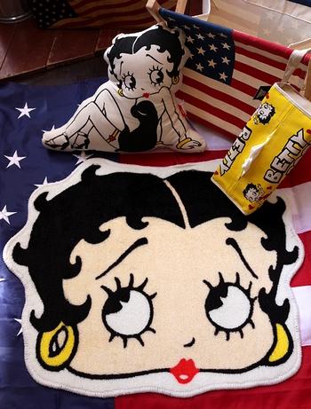 ベティフェイスフロアマット BETTYBOOP アメリカ雑貨屋 サンブリッヂ