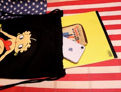ベティスウェットナップサック ベティブープコットンバッグ 着替えシューズバッグ アメリカ雑貨屋 サンブリッヂ アメリカン通販