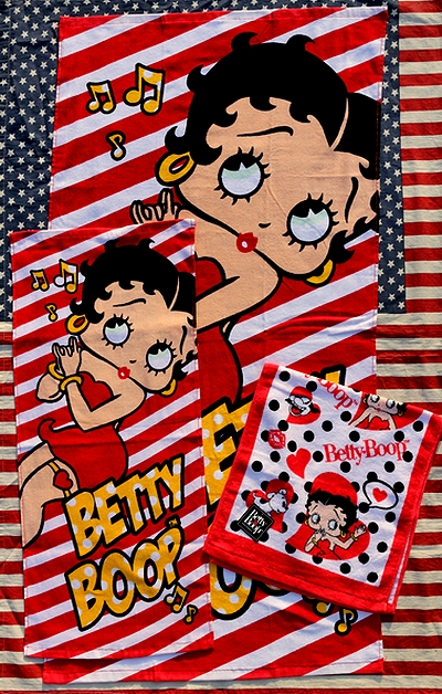 ベティタオル ベティバスタオル ベティちゃんタオル アメリカ雑貨屋 サンブリッヂ アメリカン雑貨 通販