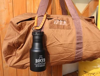 ROCCOワンタッチボトル500 ステンレスボトル ループ付き水筒 アウトドアボトル アメリカ雑貨屋 サンブリッヂ アメリカン雑貨通販