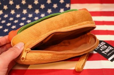ホットドッグポーチ アメリカンフード メガネケース ペンケース アメリカ雑貨屋 サンブリッジ 通販