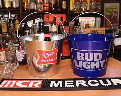 バドライトバケツ バドライトビール ブリキバケツ アメリカ雑貨屋サンブリッヂ SUNBRIDGE 岩手雑貨屋