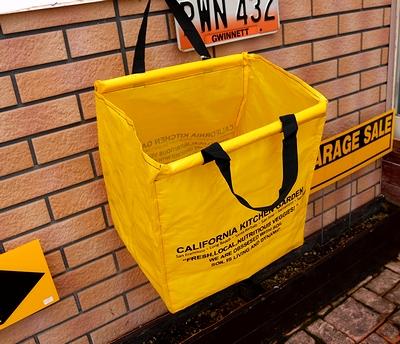 ショッピングバッグ/ポリエステル製 イギリスフラワーマーケットキャリーバッグ CA FIELD CARRIER アメリカ雑貨通販  サンブリッヂ