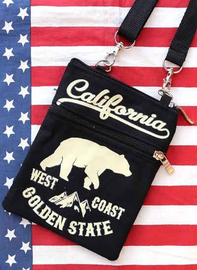 カリフォルニアサコッシュ カリフォルニア CALIFORNIA サコッシュ ショルダーバッグ アメリカ雑貨屋 サンブリッヂ 通販