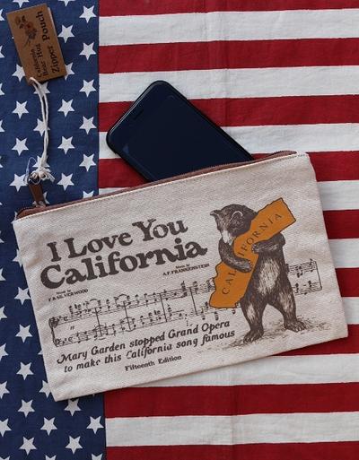 カリフォルニアポーチ 旅行ポーチ アメリカ雑貨屋 カリフォルニア雑貨通販 サンブリッヂ 通販