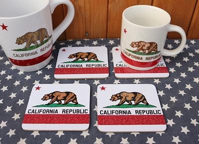 カリフォルニアコースター4枚セット カリフォルニアマグカップ CALIFORNIA アメリカ雑貨屋 サンブリッヂ 通販