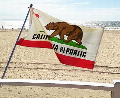 カリフォルニアフラッグ カリフォルニア旗 カリフォルニアテーブルクロス アメリカ雑貨通販 アメリカ雑貨屋 サンブリッヂ