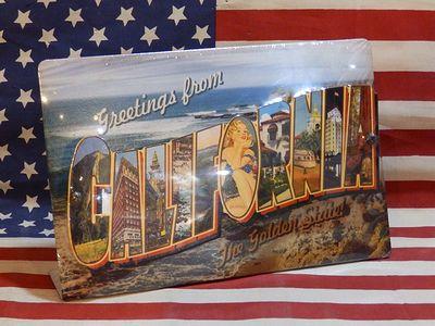 CALIFORNIA スタンド式スチール看板 文字3D MADE IN USA カリフォルニア 西海岸 スチールサイン アメリカ雑貨屋 サンブリッヂ