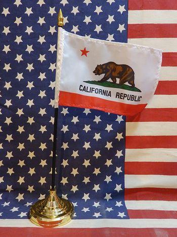 ミニ星条旗 ミニモニカリフォルニア国旗 卓上星条旗  世田谷ベース アメリカ雑貨屋 サンブリッヂ