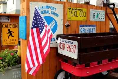 カーフラッグ 車に付けるアメリカ国旗 星条旗 棒付きアメリカ国旗 アメリカ雑貨屋 サンブリッヂ