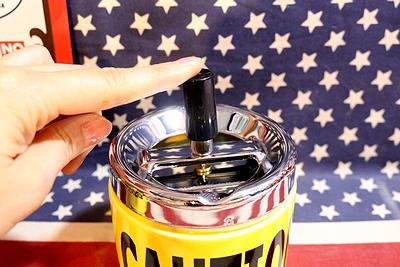 キープアウト灰皿・コーション灰皿/スピンアシュトレイ KEEPOUT CAUTION アメリカ雑貨屋 サンブリッヂ