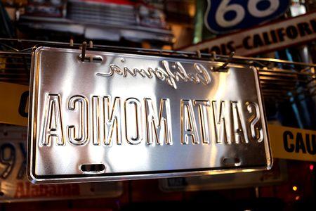 カリフォルニア 看板 ロサンゼルス看板 ナンバープレート CMプレート  アメリカ看板 サンブリッヂ アメリカ雑貨 通販 アメリカ雑貨屋