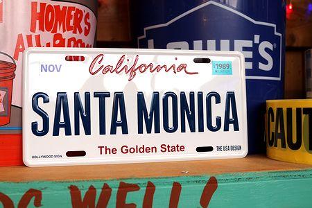 カリフォルニア 看板 サンタモニカ看板 ナンバープレート CMプレート  アメリカ看板 サンブリッヂ アメリカ雑貨 通販 アメリカ雑貨屋