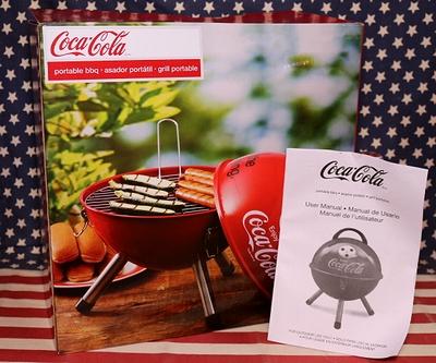 コカコーラポータブルバーベキュー コーラバーバキューコンロ焼き台 コーラBBQ台 アメリカ雑貨屋 サンブリッヂ 通販