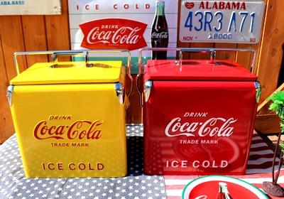 コカコーラクーラーボックス コーラストレージボックスイエロー アメリカ雑貨屋 サンブリッヂ