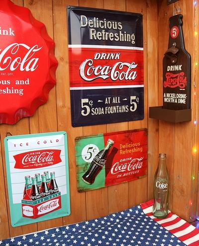 コーラスチール看板 コーラブリキ看板 コーク デリシャスリフレッシング  アメリカ雑貨屋 サンブリッヂ  SUNBRIDGE