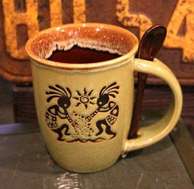 ココペリマグカップ 幸せを運ぶ精霊 スプーン付きマグカップ アメリカ雑貨屋サンブリッヂ SUNBRIDGE 岩手雑貨屋