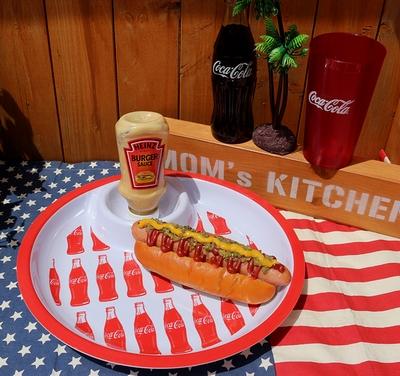 コカコーラメラミン食器 ディップ付きプレート ハンバーガー アウトドア食器 COCACOLA アメリカ雑貨屋 サンブリッヂ 通販