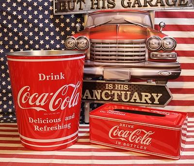 コカコーラ ティンバケツ コーラゴミ箱 アメリカ雑貨屋 サンブリッヂ