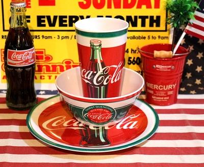 コカコーラプラ皿 コーラプラ食器 コーラボウル コーラタンブラー アメリカ雑貨屋通販