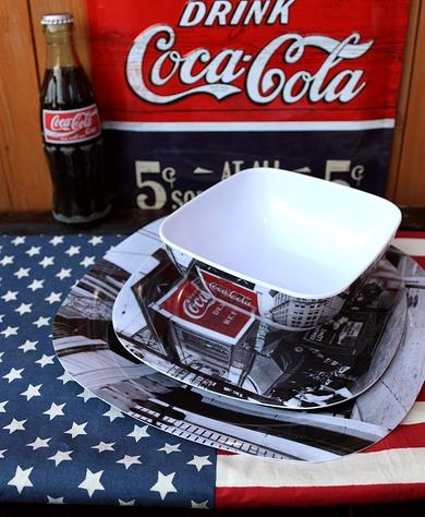 コカコーラメラミン皿 コーラメラミンプレート コーラメラミン食器 コーラ皿レア アメリカ雑貨屋サンブリッヂ SUNBRIDGE 岩手雑貨屋