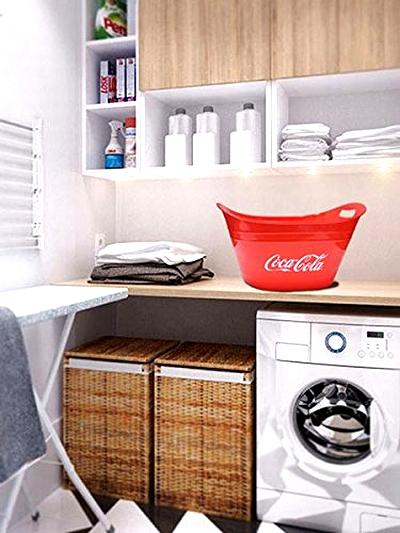 コカコーラオーバルタブ コーラカゴ アメリカンバスケット 洗濯かご アメリカ雑貨屋 サンブリッヂ アメリカン雑貨 通販