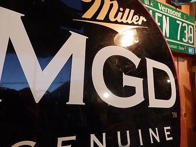 ミラー看板 ミラービール看板 Miller看板 アメリカビール看板 アメリカ雑貨屋 サンブリッヂ
