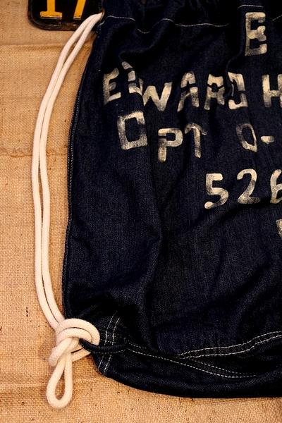 デニム巾着 アメリカ軍デニムランドリーバッグ ミリタリー巾着 アメリカ雑貨屋 サンブリッヂ セブンアップ通販