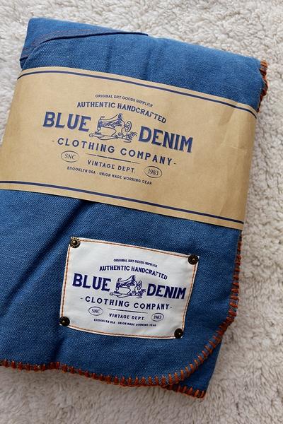 ブルーデニムブランケット デニムブランケット DENIM アメリカンブランケット アメリカ雑貨通販 アメリカ雑貨屋 サンブリッヂ