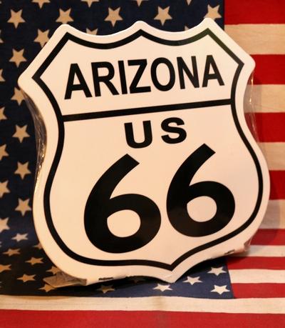 アリゾナ看板  ルート66看板 ROUTE66看板 置ける看板 アメリカ雑貨屋 サンブリッヂ アメリカン通販