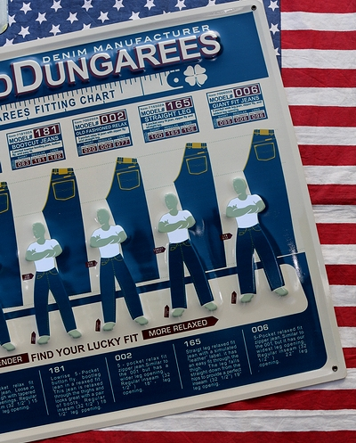 ダンガリー看板 デニム看板 ジーンズ看板 リーバイス看板 アメリカン看板通販 サンブリッヂ SUNBRIDGE