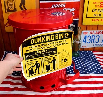 ダンキングビン スチールゴミ箱 23Lゴミ箱 アメリカンダストボックス アメリカ雑貨屋 サンブリッヂ 通販 SUNBRIDGE