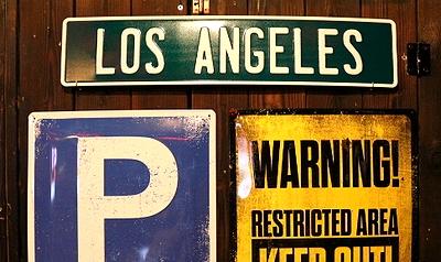 エンボスアルミプレート  カリフォルニア ロサンゼルスサイン アメリカ雑貨屋 サンブリッヂ