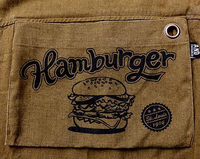 ハンバーガーエプロン アンドバッカブルエプロン アメリカンエプロン アメリカ雑貨通販 アメリカ雑貨屋 サンブリッヂ