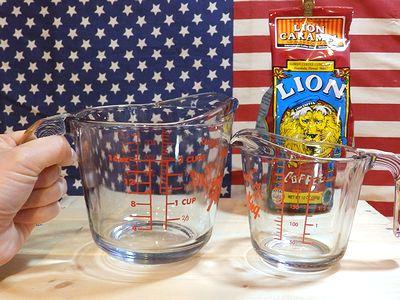 ファイヤーキングメジャーカップ 計量カップ Fire King キッチン アメリカ雑貨屋 SUNBRIDGE サンブリッジ  サンブリッヂ