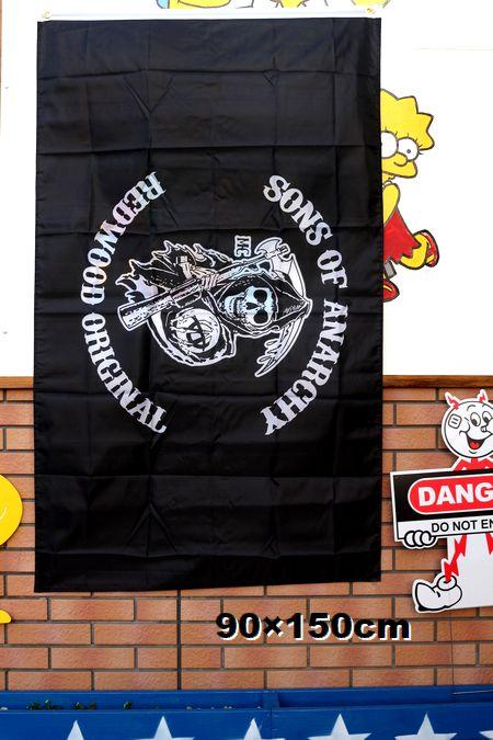サンズオブアナーキー フラッグ 旗 タペストリー バナー ガレージ 海外ドラマ  アメリカ雑貨 通販 アメリカ雑貨屋